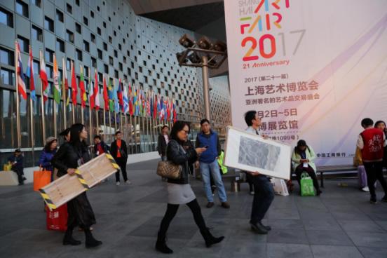 """""""艺术为生活添彩""""2017上海艺博会平安落幕"""