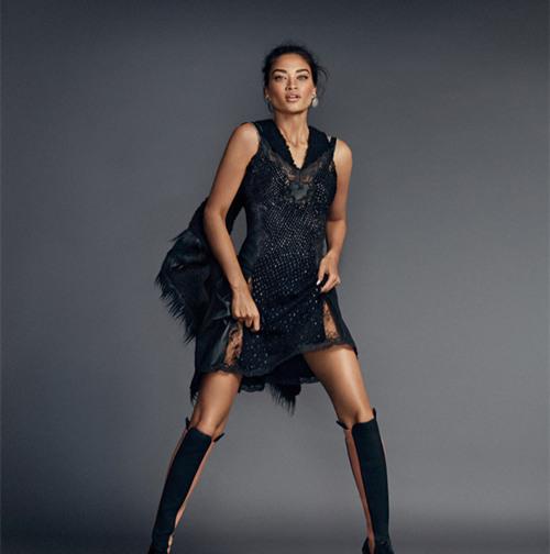 超模Shanina Shaik登上《Elle》杂志西班牙版11月号封面