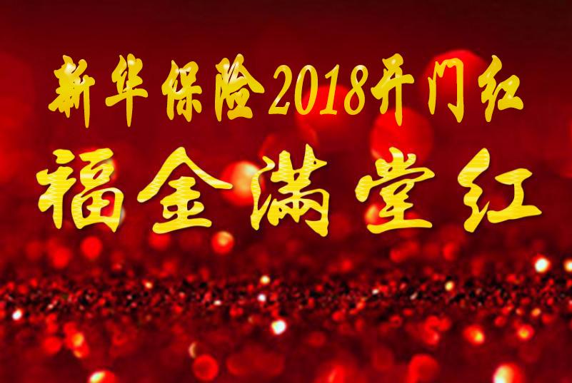 2018新华保险开门红福金满堂红:福享金生A+天利万能