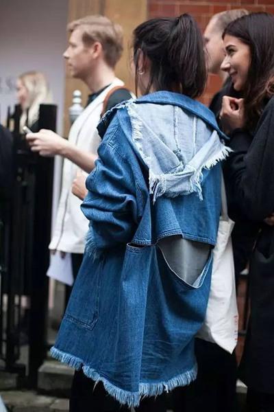 欧美服装流行趋势示范 长版牛仔衣开始夯起来了