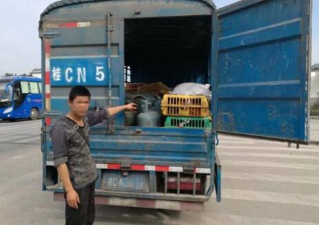 兴安县查获一辆运载24个煤气罐货车 及时消除安全隐患