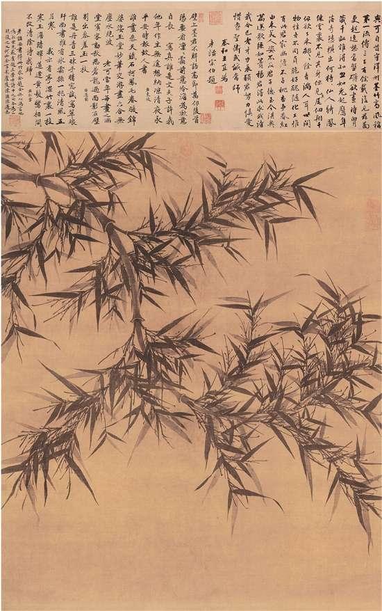 台北故宫博物院《墨竹图轴》欣赏
