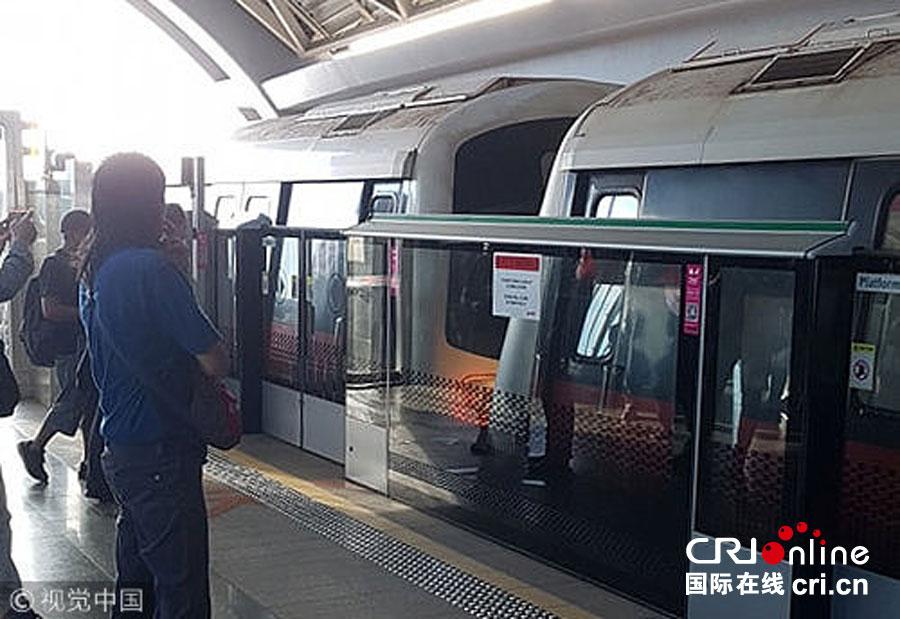 新加坡地铁追尾造成20余人受伤 地铁还能追尾?