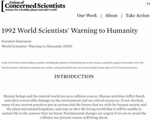 科学家第二次警告:正开启第六次物种大灭绝