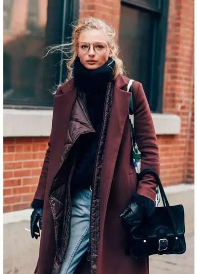达人冬季街拍造型示范 4款大衣一定有适合你的