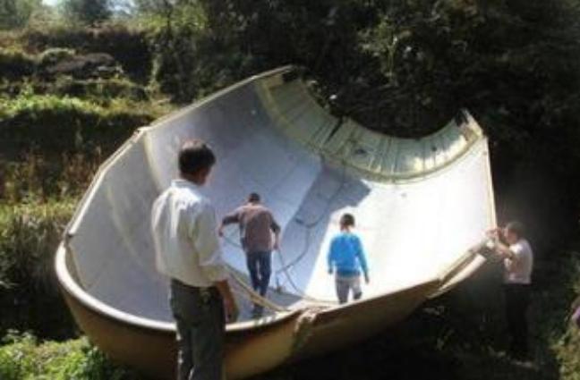 卫星整流罩坠落 当地村民以为是地震或放炮