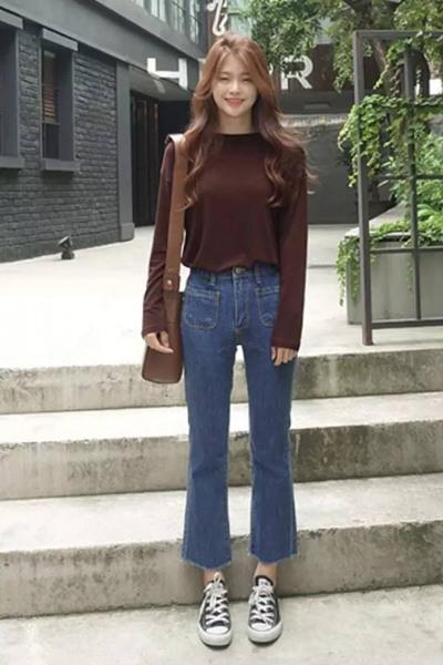 达人服装流行趋势示范 高腰牛仔裤让好身材穿出来