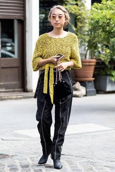 欧美穿衣搭配技巧示范 秋冬季黑金组合才是吸睛利器