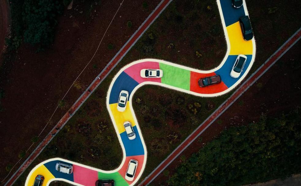 重庆彩色s型公路