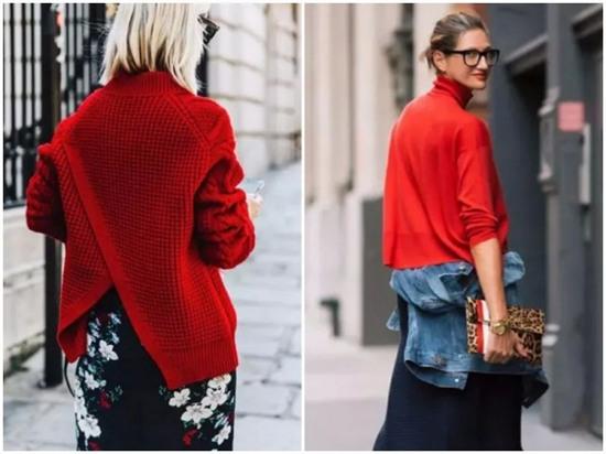 欧美服装流行趋势示范 厚实毛衣舒适又百搭