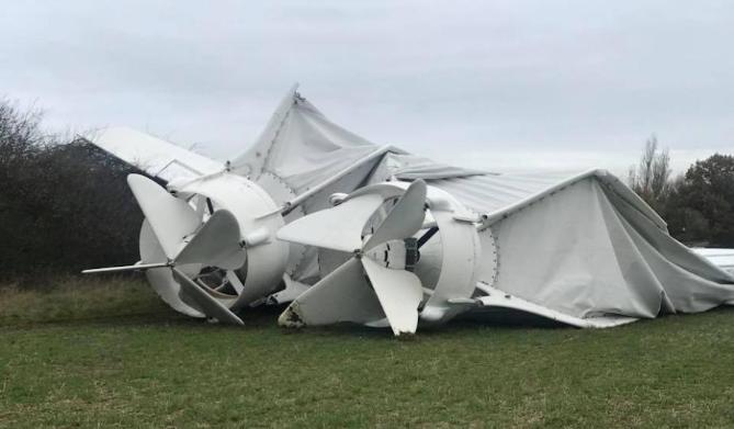 最大飞行器坠毁 导致一名女子受伤