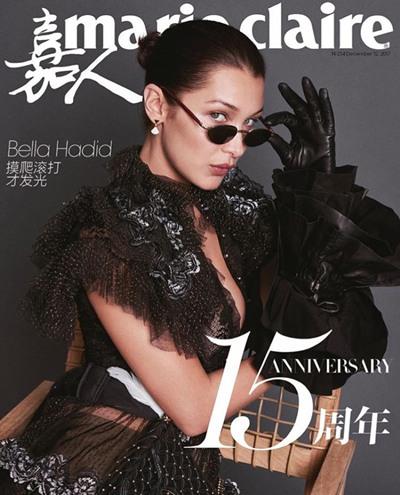 超模Bella Hadid登上《嘉人》杂志2017年11月号封面