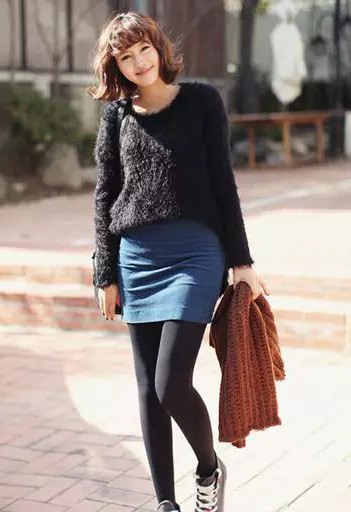 秋冬穿衣搭配造型示范 打底裤三个雷区一定要避免