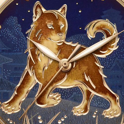 Ulysse Nardin雅典表特别为狗年推出鎏金戌犬腕表