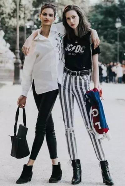 秋冬穿衣搭配技巧示范 九分裤+短靴好看又时髦
