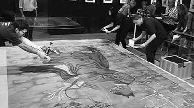 波士顿美术馆 一幅正在修复的中国画引起轰动
