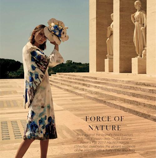 超模Nimue Smit为《TATLER》杂志拍摄时尚大片