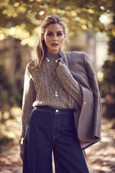冬天穿衣搭配技巧示范 一条项链让毛衣瞬间出彩