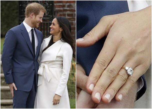 哈里王子与梅根·马克尔订婚 订婚戒指上镶有戴安娜遗留钻石