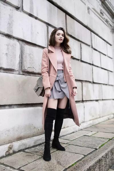 达人服装流行趋势示范 一双长靴让你女人味十足