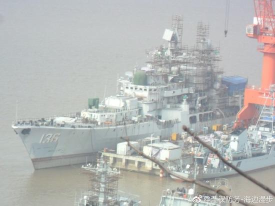 中国海军现代舰接受改造 增强战斗力更能够适应当前的体系环境
