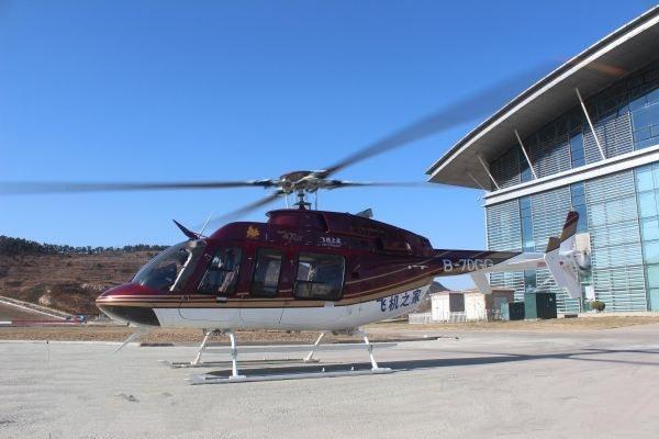 山东小汉私人直升机顺利完成3城市航空测绘作业