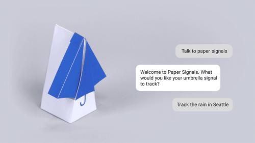 谷歌正在推出新项目PaperSignals 用声音控制物理小部件
