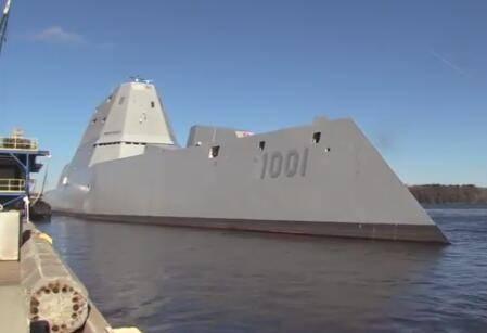 美第二艘科幻战舰出海 迈克尔·蒙索尔号首度出海进行测试