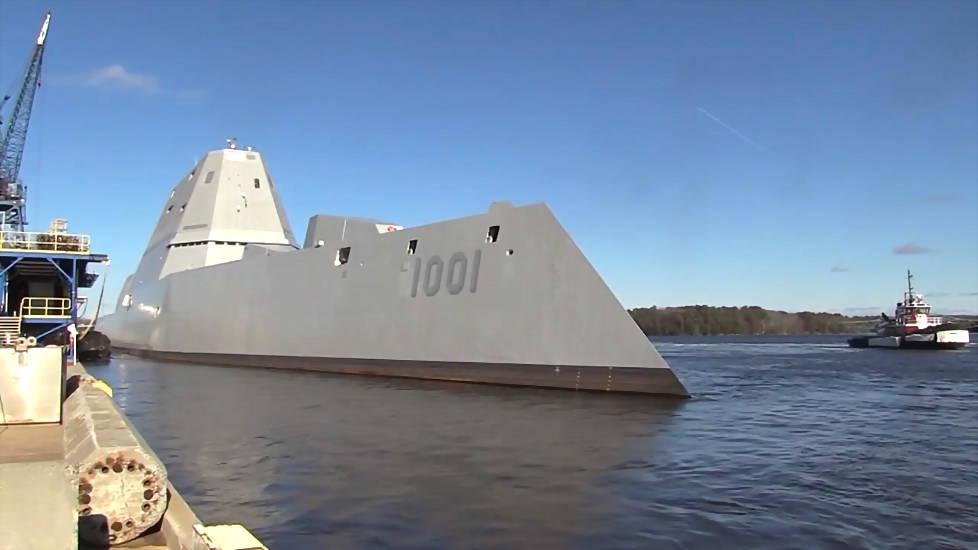 美国最强战舰试航 朱姆沃尔特级驱逐舰是划时代的新型战舰