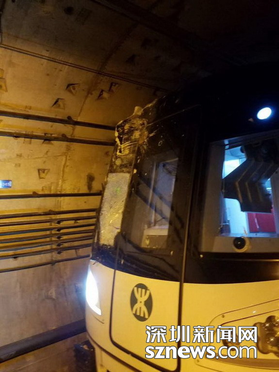 深圳地铁隧道被打穿 大量乘客滞留