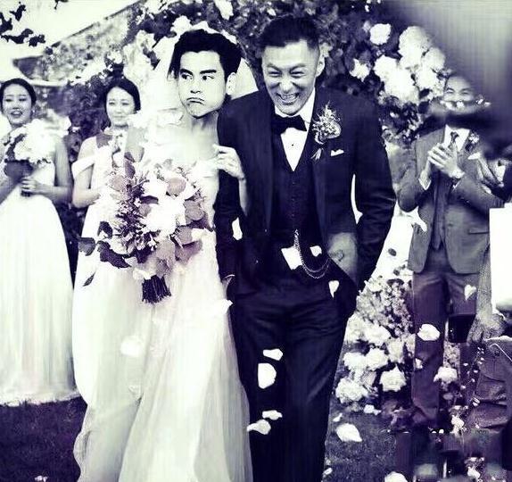 余文乐结婚彭于晏P图送祝福 把王棠云的脸P成了自己画面感超级强!