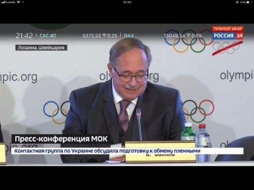俄罗斯抗议冬奥会禁赛:电视台不转播 奥运五环加斜杠