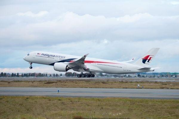 马来西亚航空公司接收首架空客A350XWB宽体私人飞机