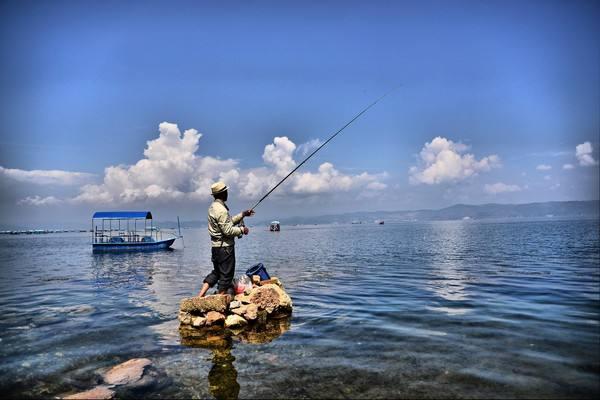 抚仙湖不仅风光秀美,而且特产丰富,湖中生息繁衍着抗浪鱼和金线鱼等世间稀有的土著鱼种。