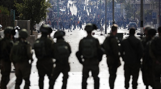 巴勒斯坦爆发示威游行冲突 抗议特朗普