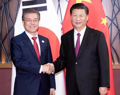 韩国总统文在寅抵达北京 冀中韩扩大服务业合作