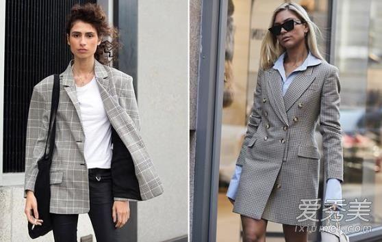 欧美服装流行趋势示范 格纹元素让冬季更有亮点
