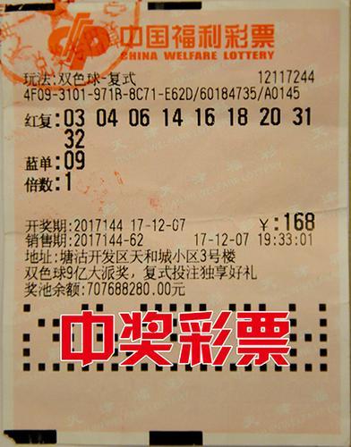天津16人合买团中双色球大奖1131万元