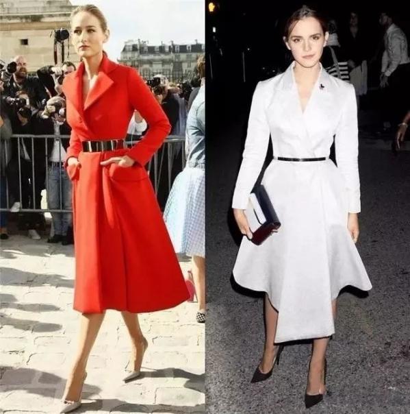 时尚达人街拍穿搭示范 大衣裙竟然这么美!