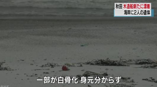 第83起日本海岸幽灵船事件 遗体已白骨化