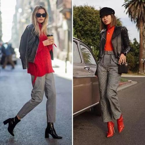 欧美达人穿衣搭配技巧 格纹裤可以穿出休闲感