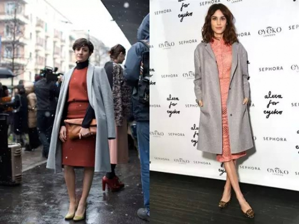 冬装穿衣搭配造型示范 大衣+裙子轻松美出新高度