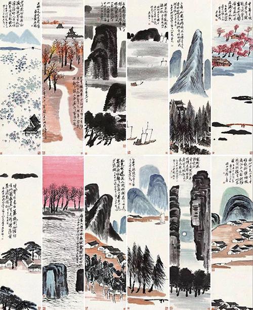 齐白石作品9.3亿 《山水十二条屏》成最贵中国艺术品