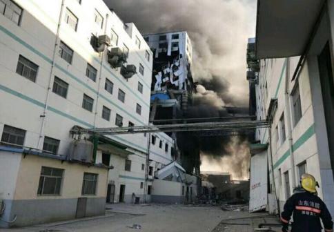 山东一化工厂爆燃致7死4伤 火已扑灭正调查原因