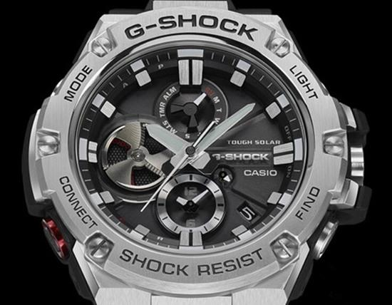 双重时间显示功能 卡西欧推出全新G-STEEL腕表