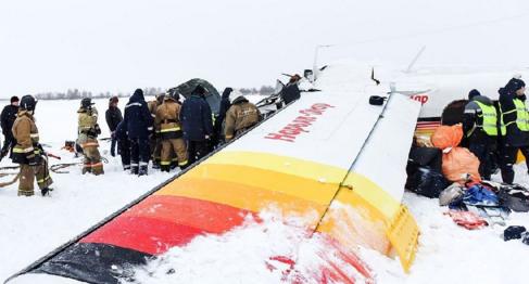 俄飞机起飞后坠毁 致4人死亡一名为儿童