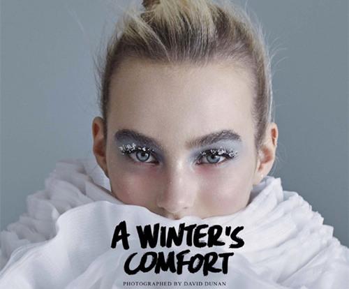 超模Maartje Verhoef为《Vogue》日本版杂志拍摄美妆大片