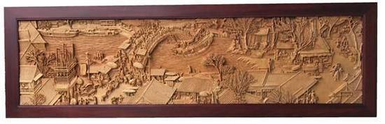 民间木雕师历时六年完成木雕版《清明上河图》