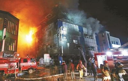 韩国火灾已致29死26伤 起火点位于一层停车场