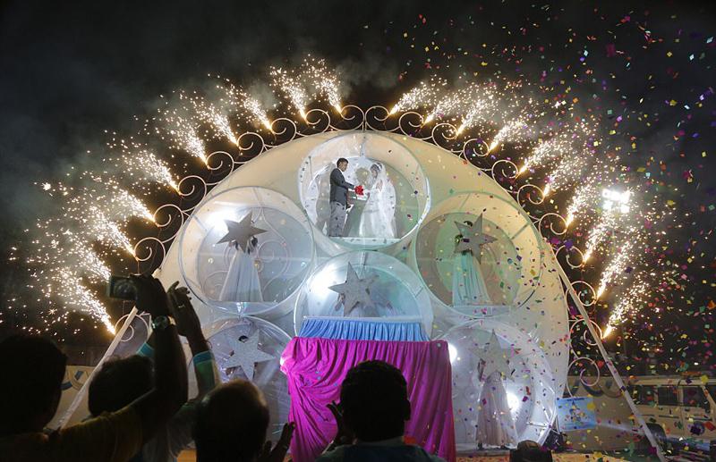 图为婚礼现场